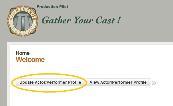 Updating your actor profile